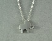 Silver Baby Elephant Necklace, Sterling Silver Chain, Delicate, Simple, Sweet Necklace
