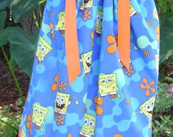 Boutique Pillowcase dress featuring Sponge Bob :CH044
