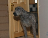 Reserved - Dog Dollhouse miniature - Deerhound OOAK