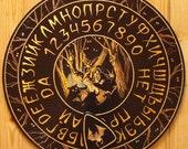 "FREE SHIPPING - Ouija board - Spiritistic board - Talking board ""Night Witchcraft"""