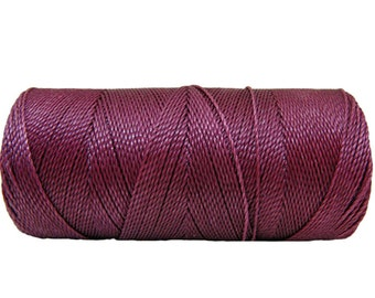 Waxed Cord - 15 meters/16 yards - Macrame Cord - Waxed Polyester - Raspberry