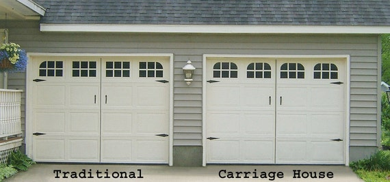 Garage Door Window Decal Traditional Single Stall