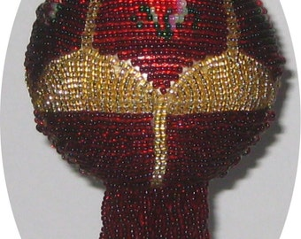 Beaded Christmas ornament pattern - Rose Window - Pay with Paypal and receive a 5 dollar rebate