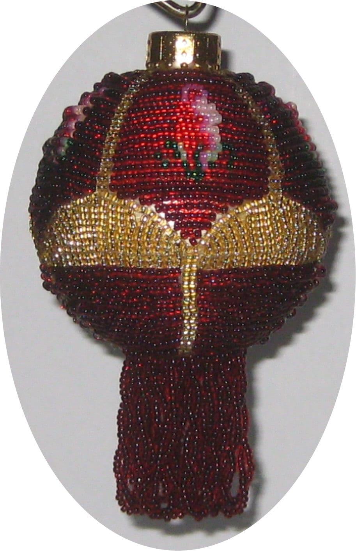 Beaded christmas ornament pattern