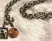 Disney Steampunk Handmade Winnie the Pooh Bear Brass Charm Necklace Pendant
