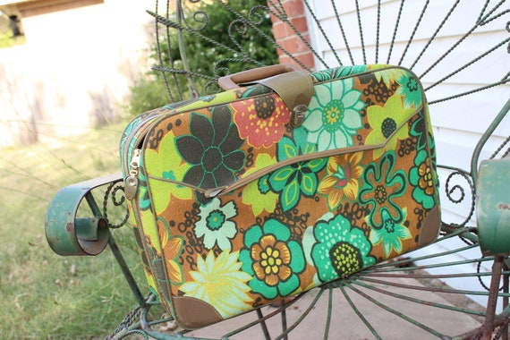 1970s Flower Power Suitcase