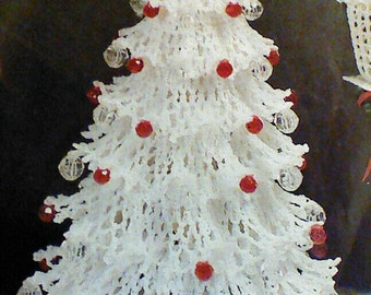 Vintage Crochet Christmas Tree,  Lady and Gentleman, and Townhouse Patterns