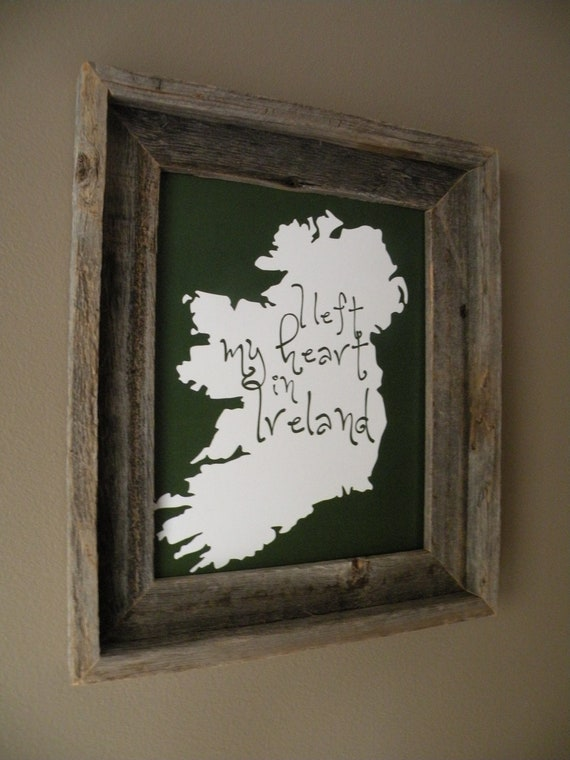 I Left My Heart In Ireland Map Print
