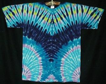Purple TieDye Short Sleeve Tee Shirt Size L