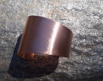 Asymmetrical Cuff - Brushed Copper