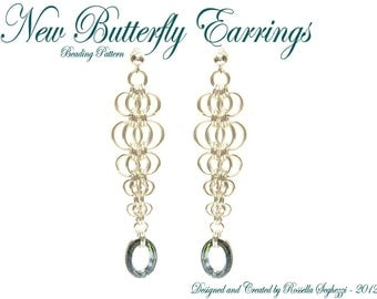 Bead Pattern Earrings New Butterfly - Pdf file Only for personal use