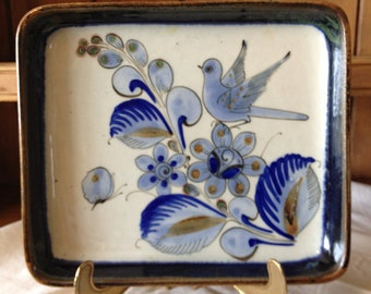 Vintage Blue/White Mexican Tray by El Palomar Studios