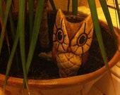 SALE Adorable Owl Self Waterer or Vase