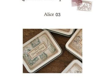 Alice in Wonderland ver.03 Rubber Stamp Set of 4ea **