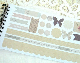 Melissa Frances Sticker Book - Attic Treasures - Vintage - Shabby Chic - for Scrapbooks - Cards