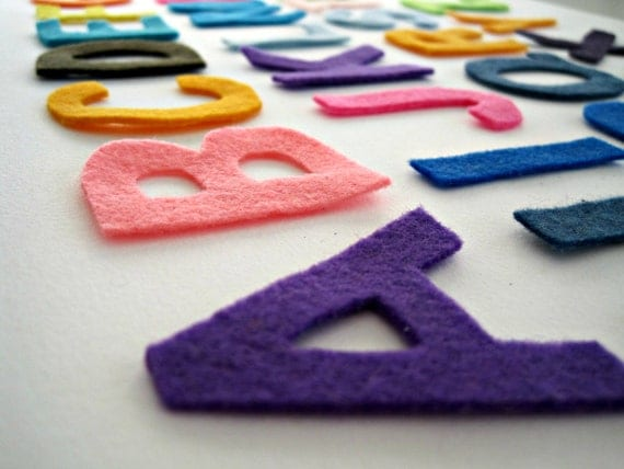 Felt Alphabet Letters ABC Scrapbooking Craft - 26 Letters