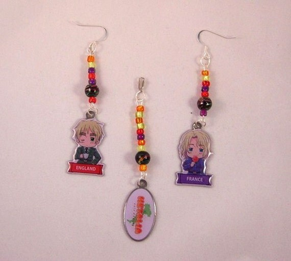 Items similar to Hetalia Anime Jewelry Starring France ...