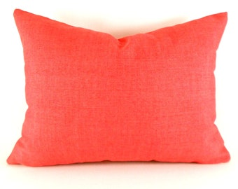 Outdoor Lumbar Pillow Covers Decorative Pillow Cover Coral Pillow Robert Allen Outdoor Baja Poppy
