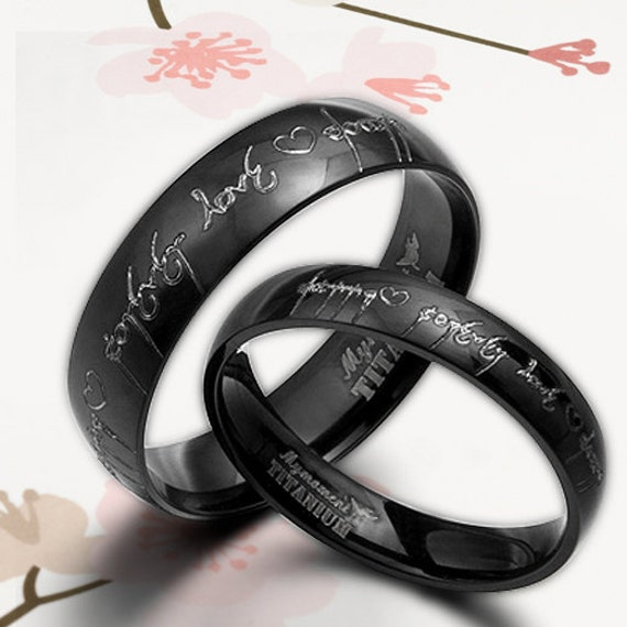Handmade Anywords Black Lord Of Ring Elvish By MymomentJewelry