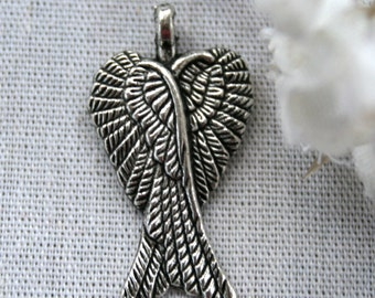 8 Tibetan Silver Bali Style Angel Wings Charms/Pendants