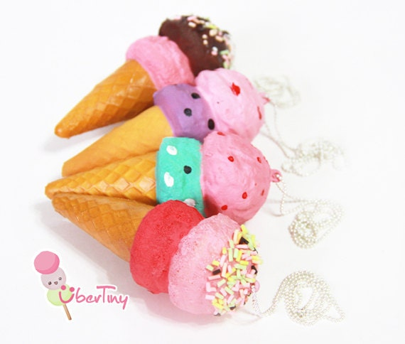 Rare Ice Cream Squishy Necklace (scented)