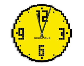 "Wall clock, unique wall clock, modern wall clock, Clock, ""Tetris"""
