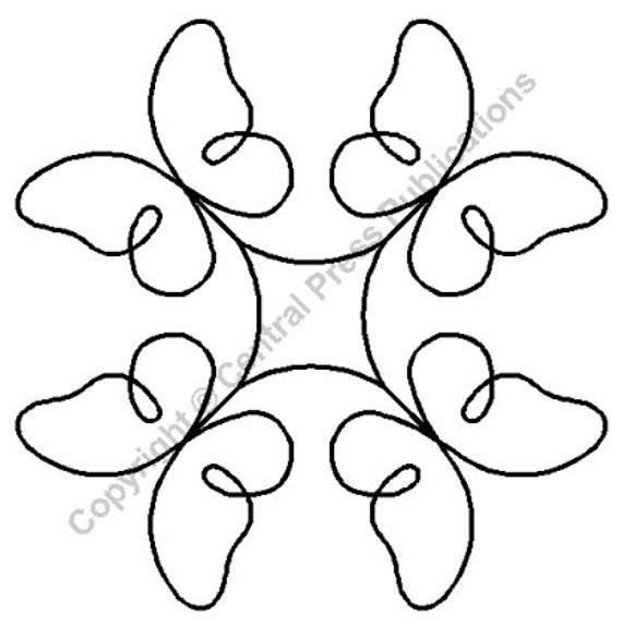 Butterfly Quilting Stencil images