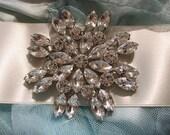 Sparkle Victorian sparkle Swarovski rhinestone crystals wedding bridal sash