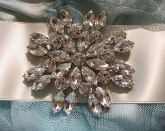 Sparkle Victorian sparkle Swarovski rhinestone crystals wedding bridal brooch, wedding brooch, rhinestones brooch, crystals brooch