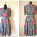 Sale 30% OFF from 39 US to 27.3 US - 60's Roses Garden Vintage Dress // Size M