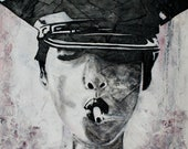Police Woman Smoking Fine Art Print