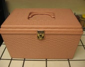 Vintage American made Pink Sewing Box by Wilson Mfg Co.