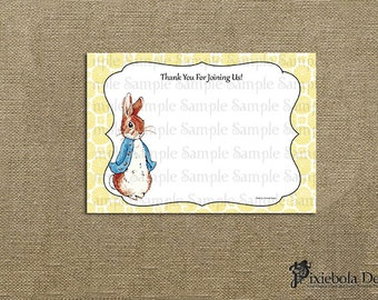 Peter Rabbit Yellow Flower Thank You Card- Design Fee (Classic Peter Rabbit Collection)