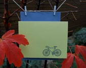 Embossed bicycle cards, set of 6 with envelopes.