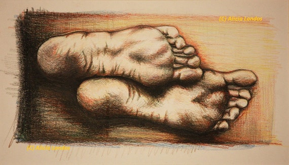 Drawing - Feet
