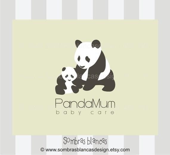 OOAK Premade Logo Design - Panda Mum Baby Care