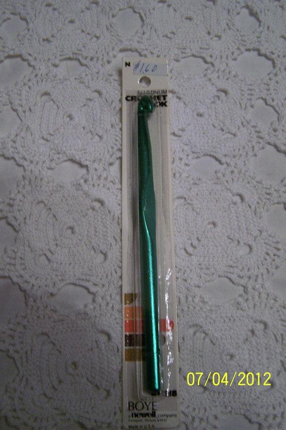 """Vintage Crochet Hook-Aluminum Crochet Hook, Size """"N""""-New in Package-by Boye, a Newell company"""