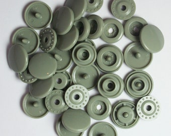 100 Sets Sage (B-30) KAM Plastic Resin Snaps For Crafts, Baby, Clothes, Bibs, Diapers and Scarves
