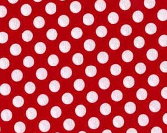 SALE Michael Miller Minnie Red Ta Dot Fabric 1/2 yd Cut