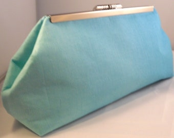Teal Ombré Clutch