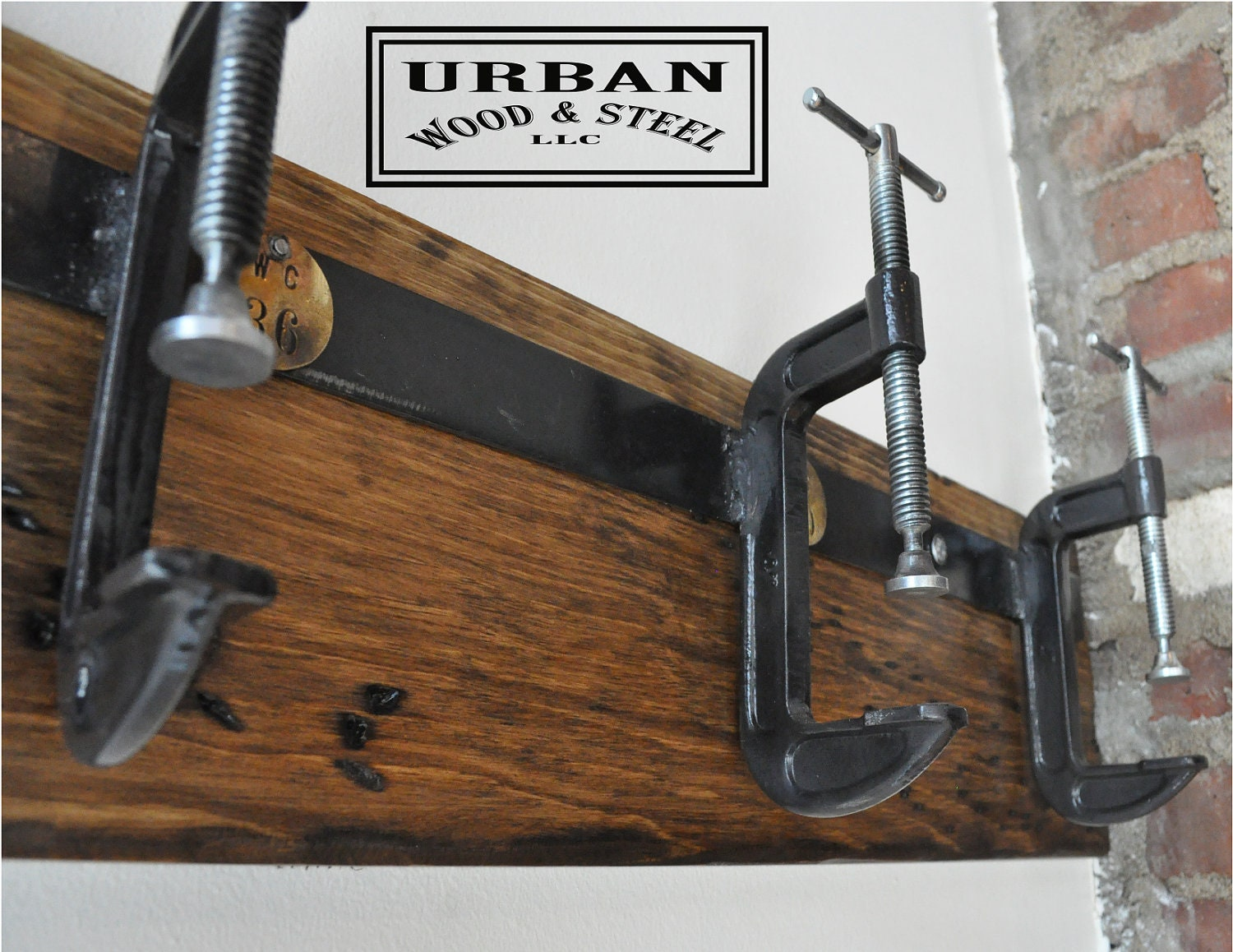 Industrial C Clamp Coat Rack