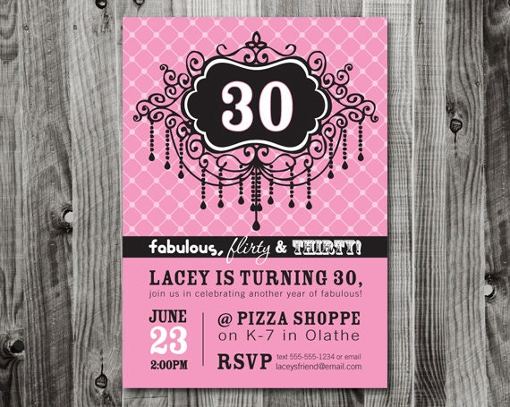 30th Birthday Party Invitation Wording Samples. 30th Birthday ...