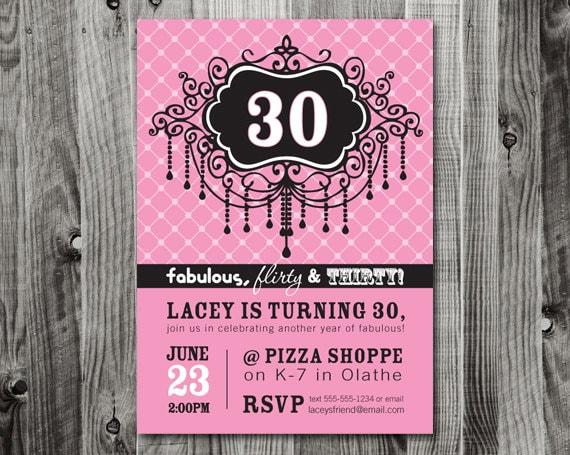 30Th Birthday Invitation Ideas with great invitation ideas
