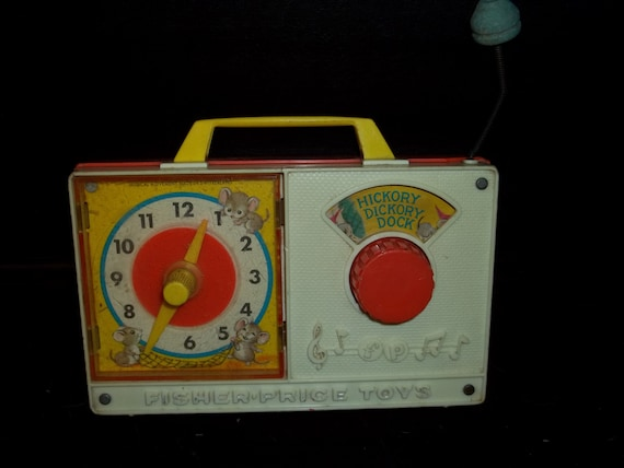 Vintage Fisher Price Hickory Dickory Dock Toy