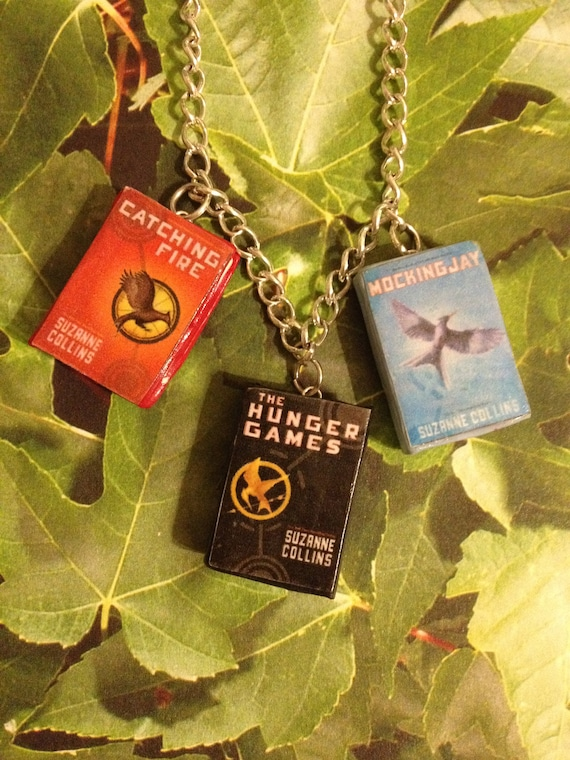 Hunger Games book necklace