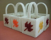 Set of 6 Mini Autumn Leaf Baskets