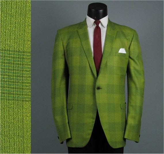 vintage mens sport coat 1960s holiday plaid skinny lapel mens. Black Bedroom Furniture Sets. Home Design Ideas