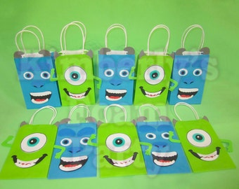 10 Monster Party bags