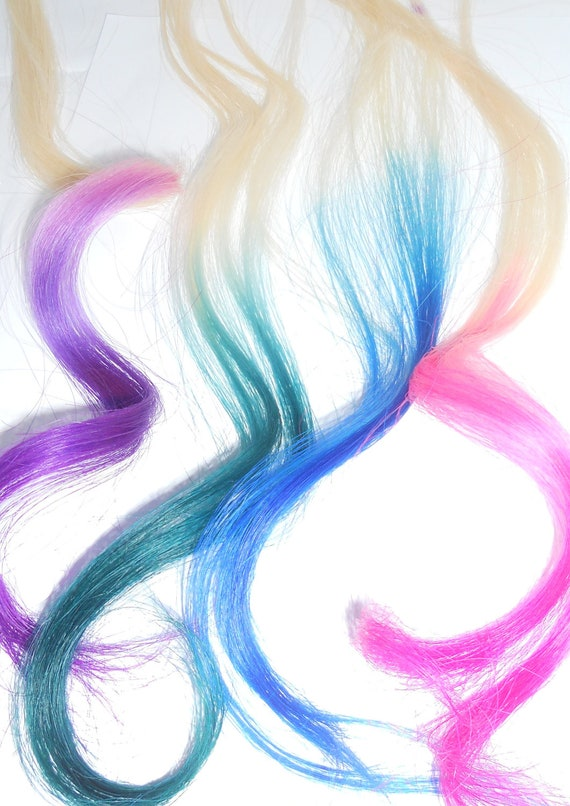 Clip In Rainbow Hair Solid or Ombre Hair Extension Weft
