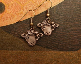 Bronze Sheep Earrings